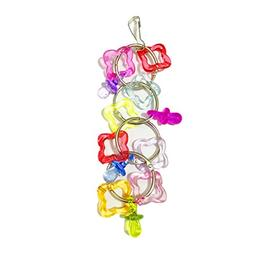 Celendi Colorful Pet Bird Parrot Swing Cage Bite Toy For Par
