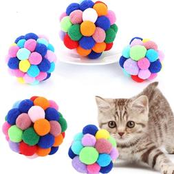 Colorful Pet <font><b>Toy</b></font> Ball With Bells <font><