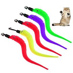 Samy Best 5pcs Colorful Pet Kitten Cat Toys Teaser Replaceme