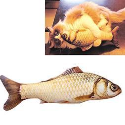 Coolfm Catnip Toys Simulation Plush Fish Shape Doll Interact