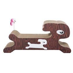"""PawHut 28"""" Corrugated Cardboard Cat Scratcher Post Lounger -"""