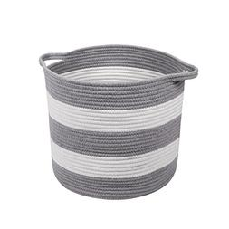 M2 Home Accessories Cotton Rope Storage Basket with Handles