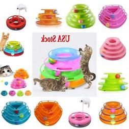 Crazy Ball Pet Cat Kitty Interactive Motion Disk Amusement P