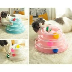 Crazy Balls Pet Cat Interactive Motion Disk Amusement Plate