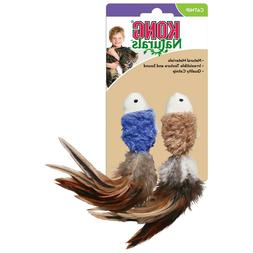 KONG Naturals Crinkle Fish Catnip Toy, Colors Vary, 2-Pack