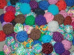 HANDMADE Crochet Yarn Ball Cat Toys - Set of 6 - Mixed Assor
