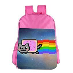 JXMD Custom Nyan Cat Rainbow Png Boys&Girls School Bag For 4