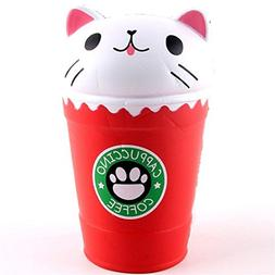 Malbaba 14cm Cut Cappuccino Coffee Cup Cat Scented Squishy S