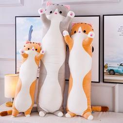 Simanfei Cute <font><b>Cat</b></font> Pillow Stuffed Plush <