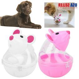 Cute Pet Cat Dog Tumbler Feeder Treat Ball Mice Shape Toy Le