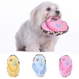 Yunt Cute Pet Dog Slipper Toy Pet Puppy Chew Plush Slippers