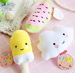 Stock Show 3Pc Cute Small Squeak Squeaker Squeaky Tooth Clea