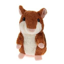 E-SCENERY Cute Talking Hamster Repeats What You Say Plush An