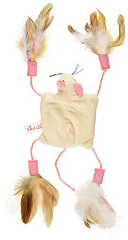 Petlinks Cutie Mouse Feathered Crinkle Cat Toy