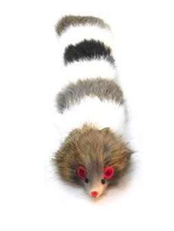patcharaporn Dat Darn Raccoon Tail Rabbit Fur Cat Toy