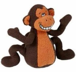 Multipet Deedle Dude 8-Inch Singing Monkey Plush Dog Toy, Br