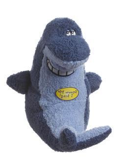 Multipet Deedle Dude Singing Shark Plush Dog Toy, 8-Inch, Bl