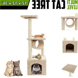 """Deluxe 36"""" Cat Tree Condo Furniture Play Toy Scratch Post Ki"""
