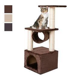 "Deluxe 36"" Cat Tree Condo Furniture Play Scratch Post Kitten"