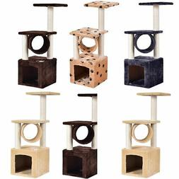 "Deluxe 36"" Cat Tree Condo Furniture Play Toy Scratch Post Ki"