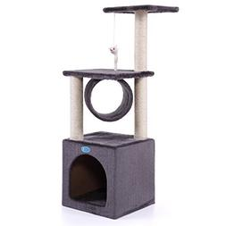 """LAZYMOON 36"""" Deluxe Cat Tree Kitten Condo Furniture Toy Pet"""