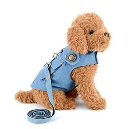smalllee_lucky_store Denim Vest Harness with Back Pocket for