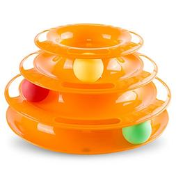 Hollypet Detachable 3-Level Tower of Tracks Ball Interactive