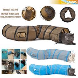 "Dia 10"" Pet Cat Tunnel 3 Ways S Shape Kitten Puppy Funny Toy"