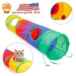 Dia 25cm Pet Dog Cat Tunnel 5 Holes With Ball Kitten Funny T