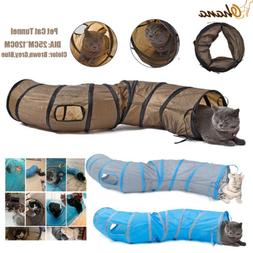 """Dia 9.8"""" Pet Cat Tunnel S Shape 2 Holes Kitten Puppy Play To"""