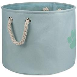 DII Bone Dry Medium Round Pet Toy and Accessory Storage Bin,