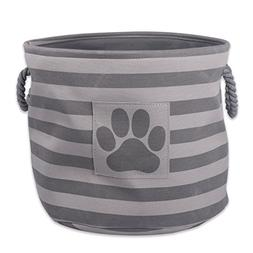 DII Bone Dry Small Round Pet Toy and Accessory Storage Bin,
