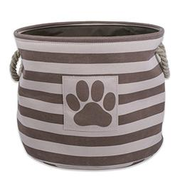Bone Dry DII Small Round Pet Toy and Accessory Storage Bin,