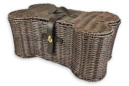 Bone Dry DII Large Wicker-Like Bone Shape Storage Basket, 24