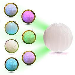 Yunt LED Dog Ball Glow Balls Pet Toys Bounce Light Ball Blin