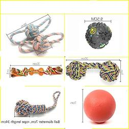 KMGNDJG Dog Ball Dog Rope Toy Set Chewing Cotton Rope 6 Sets