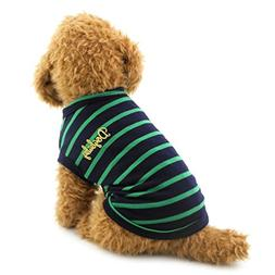 SMALLLEE_LUCKY_STORE Small Dog Clothes Black Stripes Doggy S