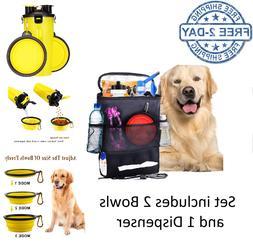 Dog Cat Car Storage Pet Travel Organizer Bag Toy Food Water