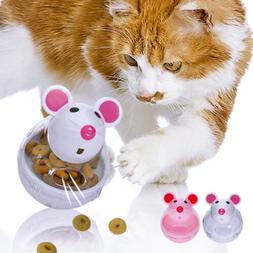 Dog Cat Feeder Toys Food Dispenser Treat Mouse Toy Interacti