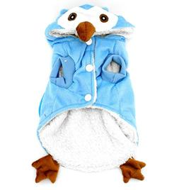 SMALLLEE_LUCKY_STORE Dog Cat Fleece Owl Costume Pajamas Pupp