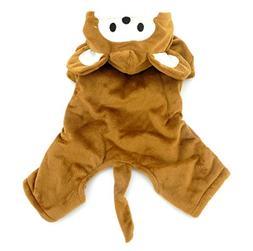 smalllee_lucky_store Small Dog/Cat Halloween Fleece Monkey C