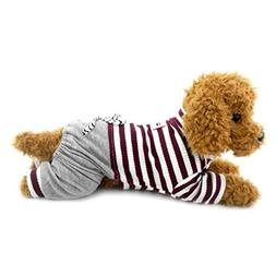 Ranphy Small Dog Stripe Jumpsuit Puppy Pajamas with Pant Com