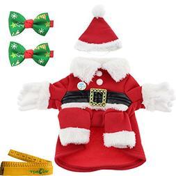 Dog Cat Pet Christmas Costume Santa Claus Suit Clothes with