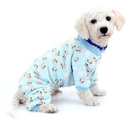 SELMAI Small Dog Cat Winter Pajamas Fleece Lined Zebra Pet P