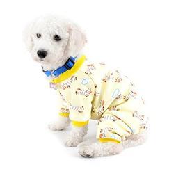 SELMAI Small Dog Cat Winter Pajamas Fleece Lined Zebra Pet P