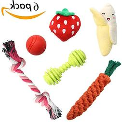 SCENEREAL Best Small Dog Chew Toys - Cute Durable Stuffed Pl