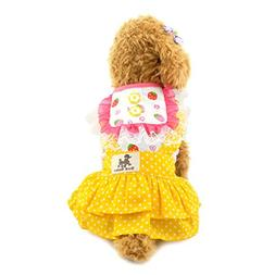 smalllee_lucky_store Small Dog Easter Dress Cotton Tutu Dres