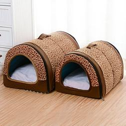 Dog House Nest With Mat Foldable Home Pet Dog Cat Puppy Dog