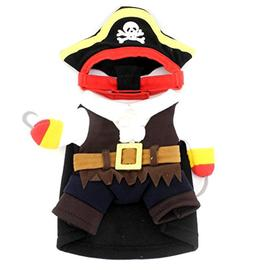 SMALLLEE_LUCKY_STORE Small Dog Pirate Costume Clothing for S
