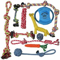 DOG ROPE TOYS FOR AGGRESSIVE CHEWERS – SET OF 14 NEARLY IN